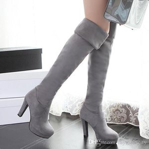 size 33 to 42 43 sexy elastic suede multi ways over the knee thigh high boots synthetic suede winter boots