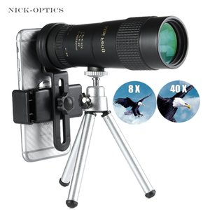 Professional High quality Zoom Monocular 8-40X40 Powerful Low Light Level Night Vision Telescope Portable for Camping Hunting T191022