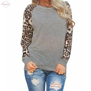 30 2019 Fashion Women Casual Long Sleeve Spring T Shirt Leopard T Shirt Summer Top Tees Femme Ladies Tshirt Clothes Plus Size