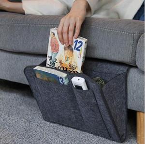 Felt bedside cabinet storage bag remote control book sofa storage bag bed folder tablet storage bag A2047