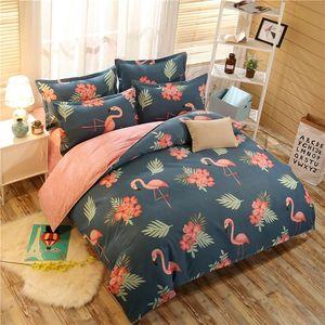 2019 En Moda Lüks yatak Flamingo nevresim set Pastoral yatak çarşafı Ev Tekstil yatak yorgan setleri Tam Kral Kraliçe setleri