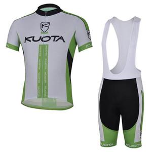 Kuota Team Cycling Short Sleeves Jersey Bib Shorts Sets Nuevo 2019 Ropa de bicicleta Secado rápido Transpirable usable U40746