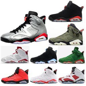 2019 Shoes New 6 Bred Infrared JSP Reflective Basquetebol Homens 6s Travis Scotts Hare alternativos 91 Carmine Branco Infravermelho Sneakers Com Box