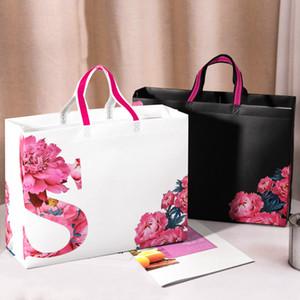 Hochwertige Vliesfolie dreidimensionale Einkaufstasche dicke wasserdichte Einkaufszentrum Shopping Kleidung Geschenke grüne Tasche groß