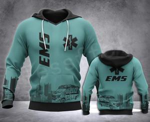 Tessffel Emergency Medical Technician EMT EMS paramédico NewFashion Unisex pulôver 3DPrint Camisola / Hoodies / zíper / revestimento S-16 T200424