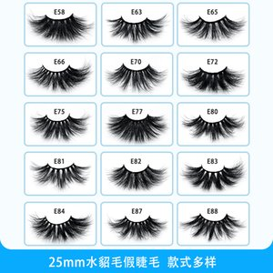 100 Real Mink Lashes 25MM 3D Makeup False Soft Natural Long Thick Dramatic Fake Eyelashes Extension Beauty Tools 15 styles wholesale