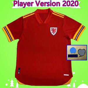 Jeux Version 2020 2021 Jersey de football 20 21 Chemise de football Bale James Maillot de Foot Ramsey Rouge Accueil Camisetas de pied Allen