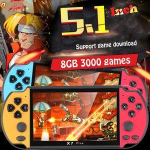 RS-06 dos jogadores do jogo Handheld 5.1 polegadas console de videogame tela embutida 3000 jogos clássicos Progresso Salvar / Carregar 32GB melhor presente
