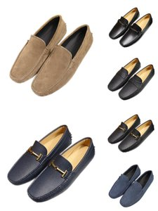 New Point Beach Catering Mens Loafers Dress B22 Top Quality Genuine Leather Slip On Flats Suede Shoes