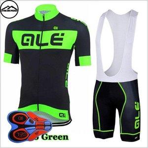 2020 Ale Takım Bisiklet Jersey Önlüğü Shortsshort Kol Bisiklet Takımı Ropa Ciclismo 2020 Dağ Bisikleti Giyim / Nefes Mans Bisiklet Jerse