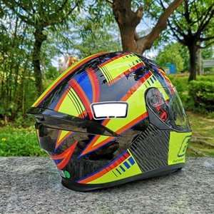 ECE Approved Men And Women Motorcycle Helmet With Inner Sun Visor Double Lens Helmet Flip Up Modular Casco Capacete