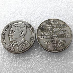 H (13) Germania Monete Commemorative 1933 monete della copia in ottone Craft Ornamenti
