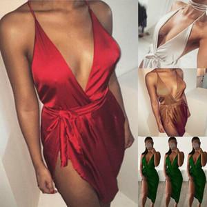 US Womens Sexy Lingerie degli indumenti da notte in raso di seta da notte Babydoll Lace Pajamas Set
