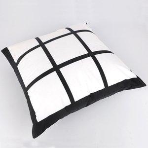 DIY Sublimation Taie Cheap Creative neuf Grille en coton imprimé oreiller Coussin Taie d'oreiller couverture pour le mariage Home Décor A09
