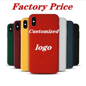 CUSTODIA posteriore il marchio su misura 1,5 millimetri di colore della caramella opaca TPU telefono cellulare per iPhone Pro 11 Max X XS XR 7 8 6 Plus