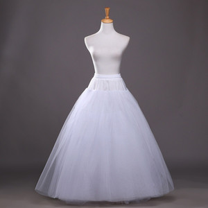 Nouvelle ligne A-Line Tulle 4 Couches Bridal Mariage Petticoat Bride Accessoires Crinoline Slip Longueur de sol