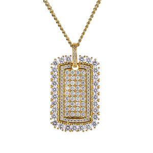 2020 Новый Плотные тяжелой промышленности армии ожерелье Hip Hop Luxury Алмазная ожерелья ювелирные изделия для женщин мужчин подарок на день рождения 2 цвета