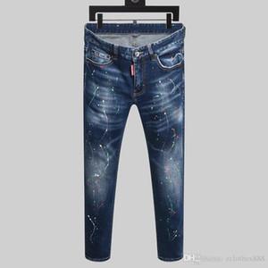 Yeni 2020 Erkekler siyah beyaz Denim Jeans Pamuk moda Sıkı ilkbahar sonbahar Erkek pantolonları A1434 dizel erkekler kot pantolon lüks
