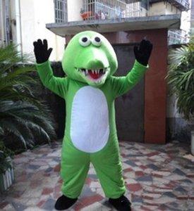 2020 горячий новый прекрасный крокодил Mascot костюмы Анимированные темы Greem крокодил Cospaly Мультфильм талисман символов для взрослых Хэллоуин карнавал партия