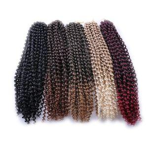 Sentetik Örgü Saç Tutku twist 18inch 24 Ipliklerini Öncesi Looped Tığ Sentetik Örgü Saç Uzantıları In Stock