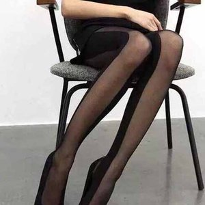 캐주얼 스타킹 새로운 디자이너 스플 라이스 양말 여성 브랜드 스타킹 단색 이상 무릎 양말 2020 새로운 도매 관점 양말 여자