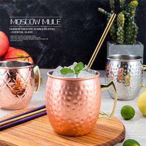 5styles 500мла Москву Осел Меди Кружки из нержавеющей стали розового золота омедненного Кубка пива Mule коктейль специального кубок T9I00201