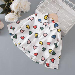 Childrenswear GIRL'S Shirt Spring And Autumn 2019 New Style Children Long Sleeve 100% Cotton Coat Baby Girls Versatile Base Shir