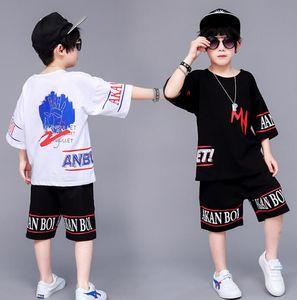 Children's hip hop suit boys hip hop loose sports children's wear wholesale two pieces of fashionable clothes
