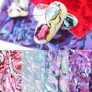 3D concha de abulón Shinny clavo de la hoja pegatinas Mármol Fewelry deslizante para la manicura del gradiente de la etiqueta del arte del clavo Decoración extremidad de la manicura LE747