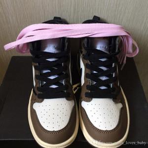 2019 أحذية أطفال بيبي كرة السلة OG 1S أحذية منتصف ترافيس سكوت صبار جاك أحذية رياضية للأطفال الرياضة بوي فتاة طفل المدرب الاحذية