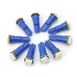 100pcs / lot T5 LED 조명 전구 자동차 LED 빛 12V 1 5050 SMD 10-20LM 6000K 블루 레드 LED 빛