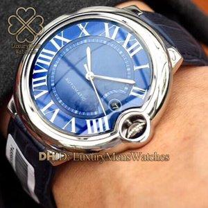 Designer Herrenuhren WSBB0025 WSBB0015 W6920037 WGBB0017 316L Stahl Uhr-automatische Bewegungs-Saphir-Lederband Uhren reloj de lujo
