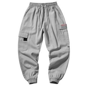 3XL Hip Hop Patchwork Tasche Cotton Harem Pantaloni da uomo Casual Jogger Tatical Solid Harajuku Streetwear Pantaloni maschili Pantaloni