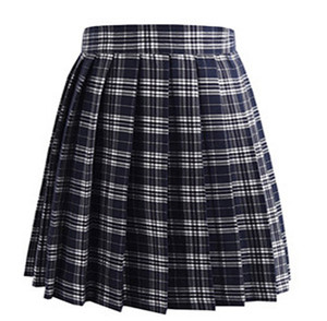 Check Pattern Uniform Cosplay Pleat Plaid Skirts Fashion Mini Homecoming Skirt A Line JK01 Party Cocktail Dress Knee Length Girls Dresses