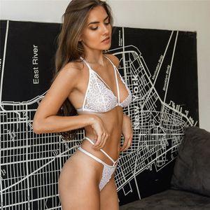 2020 sexy bra set women alphabet mesh bandage push up lingerie bralette wire free bras seamless thong panties underwear