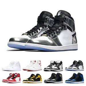 Toptan Orta OG 1 üst 3 erkekler basketbol ayakkabıları 1 s Bred Toe Yasaklı Chicago Oyunu Kraliyet Paramparça Backboard Meşale Geçmek Spor sneakers