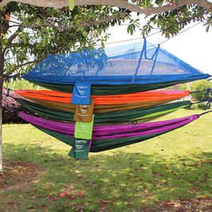 Alta Qualidade Duplo Parachute Turismo Garden balanço dormir Redes Cadeira com Kits Tent Mosquito Net Outdoor Sports Camping