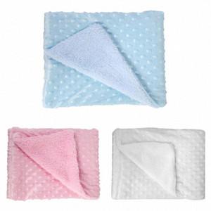 Babydecke weiche warme Wolle Baby-Bett-Steppdecke Badetuch Pyjamas Vv1z #