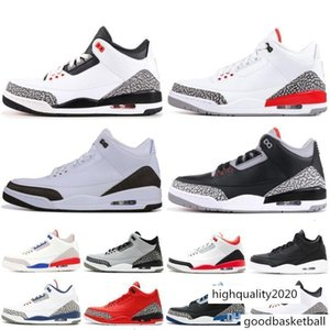 3s 3 Mens Basketball Shoes Mocha Charity Game Pure White Infrared Fly Black Iii Sports Shoes Designer Sneakers Jumpman Chaussures