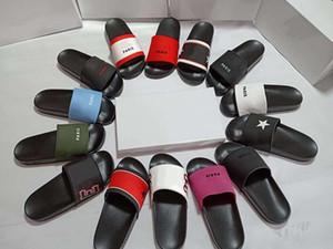 GUCCI Valentino UGG Dior Christian Louboutin Erkekler tasarımcı çevirme kutusu ile ayakkabı Kadınlar Lüks Sandalet Paris Terlik Flop'lar Kauçuk slaytlar Moda Geniş Terlik Plaj sand