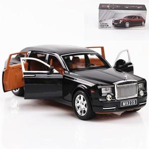 1:24 Excelente Qualidade Rolls-royce Phantom Liga de Metal Diecasts Toy Vehicles Modelo de Carro Brinquedos Para Crianças J190525