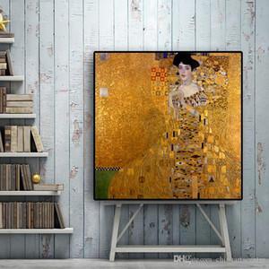Va. не расписанную Аннотация Известный Густав Климт картины маслом на холсте Pop Art Классическая скандинавской Украшение Нет Рамку высокого качества P175