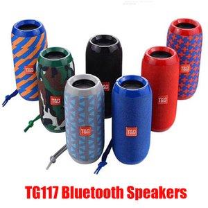 Altavoces TG117 inalámbrica Bluetooth Subwoofers a prueba de agua portátil de doble cuerno 1200mAh batería al aire libre altavoces TF tarjeta de radio FM