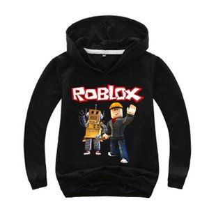 New Kids Roblox Red Nose Day Pullover Hooded Sweatshirt Boys Girls Autumn Cotton T shirt Fashion Cartoon Tops 2-14y
