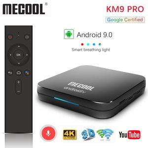 Google certifié Mecool KM9 Pro ATV 2G16g 4G32G Android 9.0 TV Box Amlogic S905x2 Entrée vocale Double WIFI Smart TV