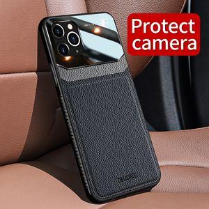Luxus-Lederkasten für iPhone11 Pro Max Voll Schützen Hülle für iPhone 11 Telefonkästen Bezug Kamera-Objektiv
