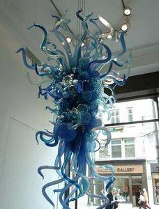 Творческий цветочный арт дизайн ручная выдувная стеклянная люстра освещение вестибюля вход Европа стиль декоративная красивая люстра со светодиодными лампочками