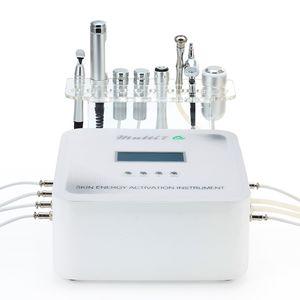 Galvanik Oksijen Mikrodermabrazyon Soğutma ile Microcurrent 6'da 1 Güzellik Machine ile RF Hayır iğne Mezoterapi cilt gençleştirme Enstrüman