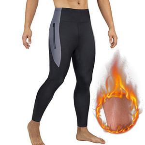SFIT Mens vita alta di sport dei pantaloni del corsetto pantaloni di yoga Palestra Xlimming Pantaloni Seamles Palestra indumenti stretti allenamento Leggings Plus Size