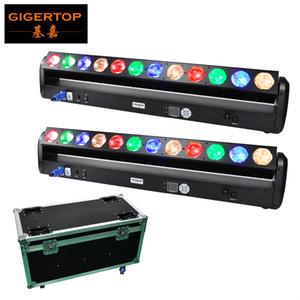 2in1 Flightcase Paketi 12 30W RGB Amber Renk Piksel Led Başkanı Işın Işık Bar 1000mm uzunluk Yüksek Güç COB DMX512 Kontrol Sahne Işık Hareketli x